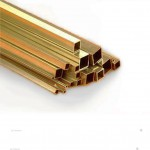 "1.1/4"" Sq x 16g - Brass Square Tube"
